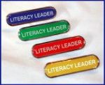 LITERACY LEADER - BAR Lapel Badge